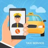Het concept van de taxidienst Stock Foto's