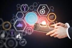 Het concept van de technologie Stock Foto's