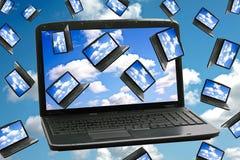 Het Concept van de Technologie van de Gegevensverwerking van de wolk Stock Afbeelding