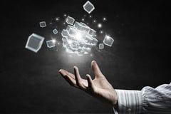 Het concept van de technologieintegratie Gemengde media Royalty-vrije Stock Foto's