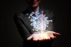 Het concept van de technologieintegratie Gemengde media Stock Foto's