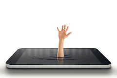 Het concept van de technologieverslaving het 3d teruggeven Royalty-vrije Stock Foto's