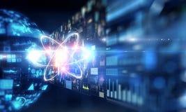 Het concept van de technologiewetenschap stock illustratie
