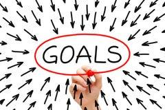 Het Concept van doelstellingen Stock Foto's