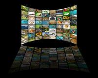 Het concept van de televisie royalty-vrije stock afbeeldingen