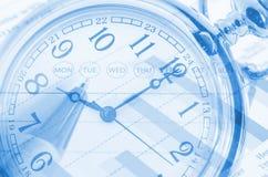 Het concept van de tijdbedrijfseconomie Stock Foto