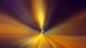 Het concept van de tijdreis, snelle snelheidsmotie door de tunnel Stock Foto
