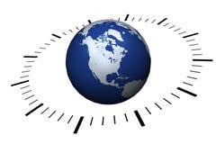 Het concept van de tijdzone Stock Afbeeldingen