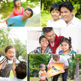 Het concept van de vaderdag Stock Foto's