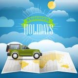 Het concept van de vakantie De vakantie van de zomer Royalty-vrije Stock Foto