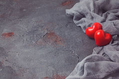 Het concept van de valentijnskaartendag met hartvormen Stock Fotografie