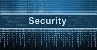 Het concept van de veiligheid. De achtergrond van de technologie Stock Foto's