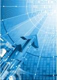 Het concept van de veiligheid en van de technologie Stock Afbeeldingen