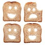 Het concept van de veiligheid met broodplakken Royalty-vrije Stock Foto's