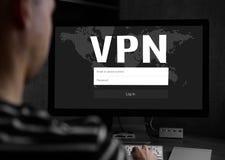 Het Concept van de Veiligheid van Cyber VPN royalty-vrije stock afbeeldingen