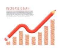 Het concept van de verhogingsgrafiek Stock Fotografie