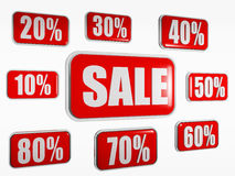 Het concept van de verkoop Stock Foto's