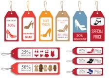 Het concept van de verkoop - hand met vergrootglas Royalty-vrije Stock Foto's