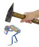 Het concept van de vernedering en van de spanning Stock Afbeelding