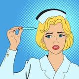 Het concept van de verpleegstersstrippagina Stock Afbeeldingen