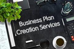 Het Concept van de de Verwezenlijkingsdiensten van het Businessplan 3d geef terug Royalty-vrije Stock Afbeeldingen