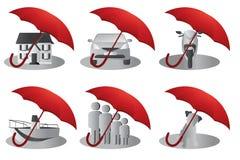 Het concept van de verzekering Stock Foto's