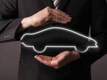 Het concept van de verzekeringsauto Royalty-vrije Stock Afbeeldingen