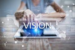 Het concept van de visie Zaken, Internet en technologieconcept stock fotografie