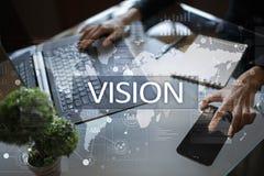 Het concept van de visie Zaken, Internet en technologieconcept royalty-vrije stock foto