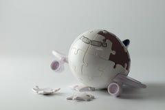 Het concept van de vliegtuigramp Royalty-vrije Stock Foto