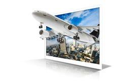 Het Concept van de vliegtuigreis Stock Afbeeldingen