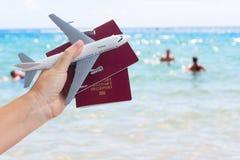 Het concept van de vliegtuigreis Royalty-vrije Stock Afbeelding