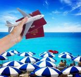 Het concept van de vliegtuigreis Royalty-vrije Stock Foto