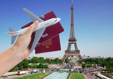 Het concept van de vliegtuigreis Royalty-vrije Stock Afbeeldingen