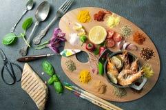 Het concept van de voedselcreativiteit Royalty-vrije Stock Afbeeldingen