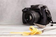 Het concept van de voedselfotografie royalty-vrije stock foto