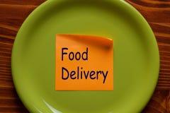Het concept van de voedsellevering stock foto's