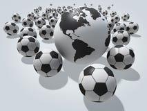 Het concept van de voetbal Stock Afbeelding