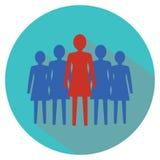 Het concept van de vrouwenleiding Concepten 3D illustratie Stock Foto