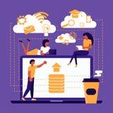 Het concept van de Webgrafiek stock illustratie