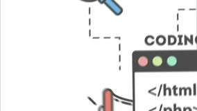Het concept van de Webontwikkeling vector illustratie