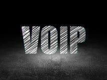 Het concept van de Webontwikkeling: VOIP in grunge donkere ruimte Royalty-vrije Stock Foto