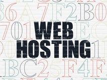 Het concept van de Webontwikkeling: Web het Ontvangen op muur Stock Afbeelding