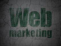 Het concept van de Webontwikkeling: Web Marketing op de achtergrond van de grungemuur stock illustratie