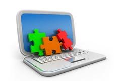 Het concept van de Weboplossing Royalty-vrije Illustratie