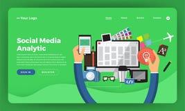 Het concept van het de website vlakke ontwerp van het modelontwerp digitale marketing Wij royalty-vrije illustratie