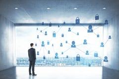 Het concept van de Webveiligheid Royalty-vrije Stock Afbeelding