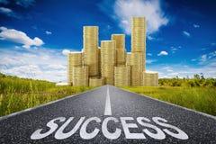 Het concept van de weg naar het succes Stock Fotografie