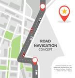 Het concept van de wegnavigatie Stock Foto's
