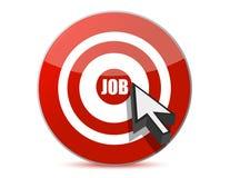Het concept van de werkgelegenheid of van de werkloosheid met pijl vector illustratie